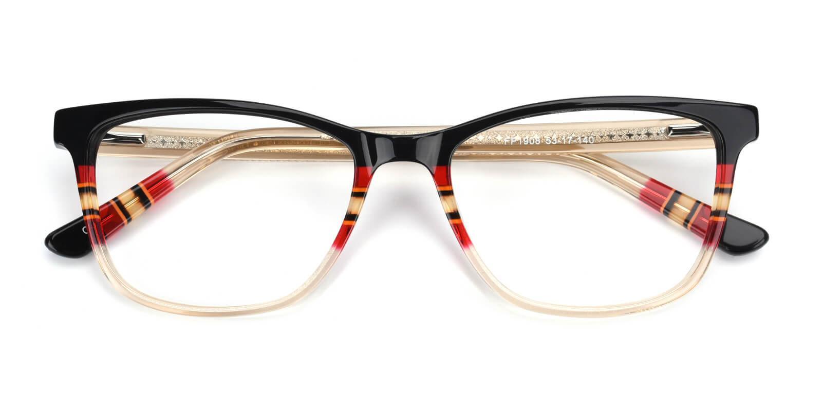Selinda-Brown-Square / Cat-Acetate-Eyeglasses-detail