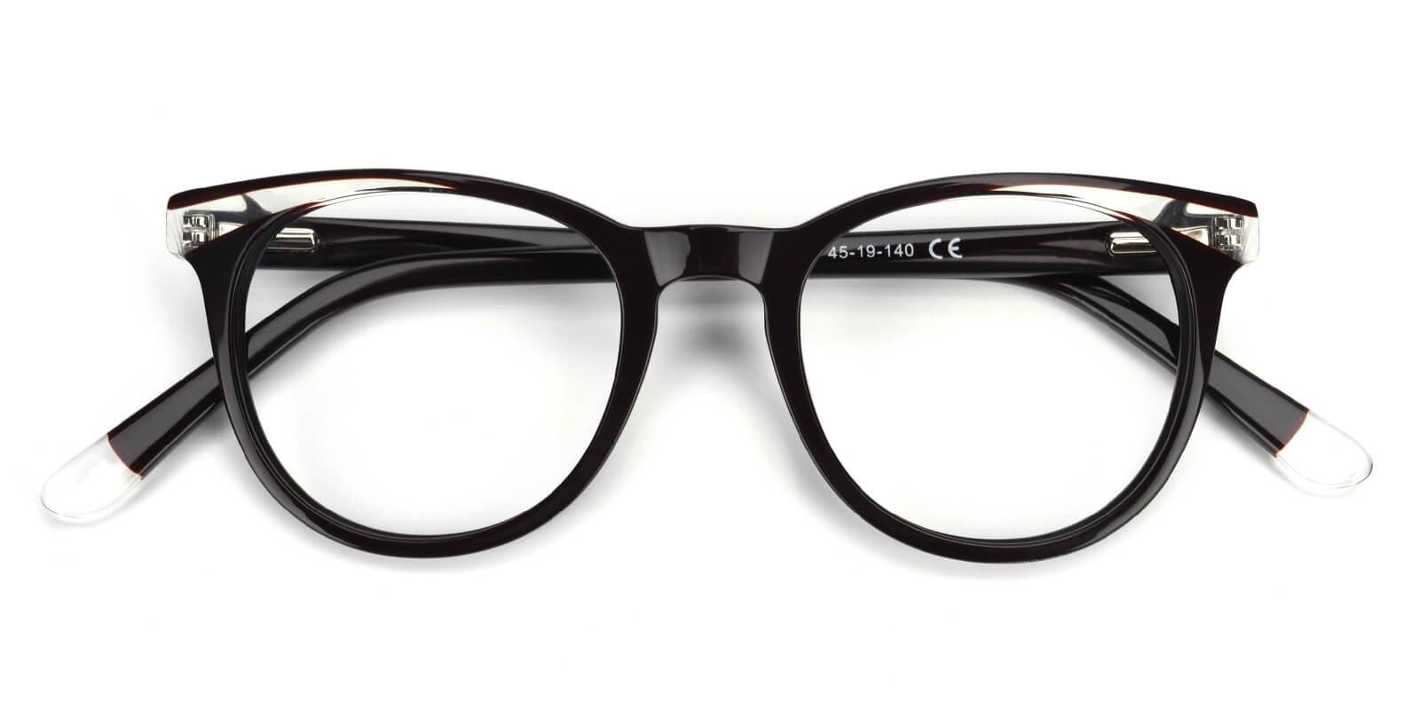 Clementine-Black-Oval / Cat-Acetate-Eyeglasses-detail