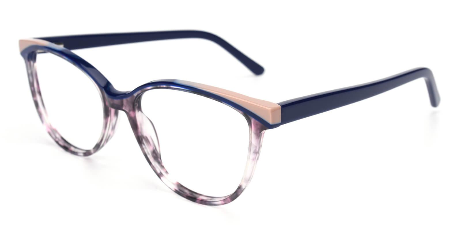 Cynthialy-Blue-Oval / Cat-Acetate-Eyeglasses-additional1
