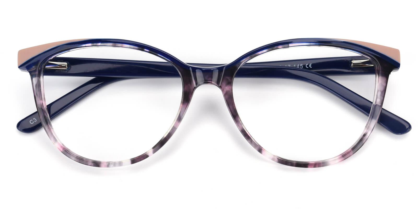 Cynthialy-Blue-Oval / Cat-Acetate-Eyeglasses-detail