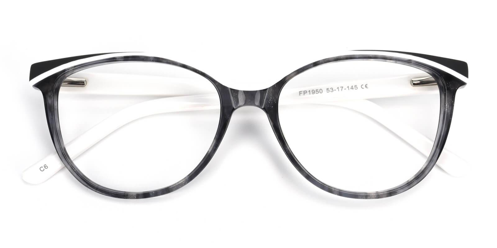 Cynthialy-White-Oval / Cat-Acetate-Eyeglasses-detail