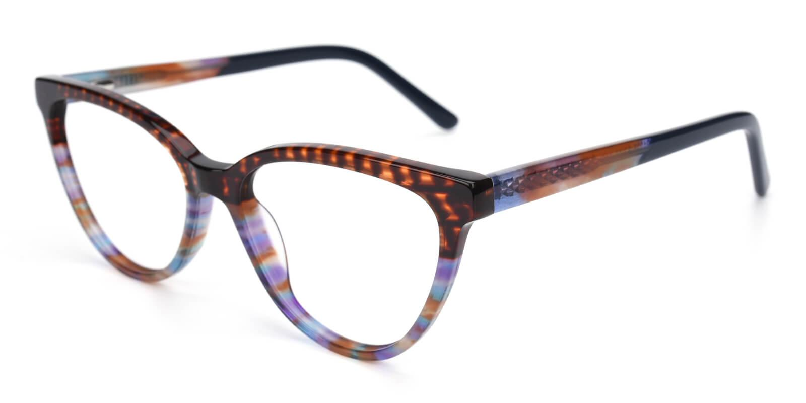 Daphnely-Brown-Oval / Cat-Acetate-Eyeglasses-detail