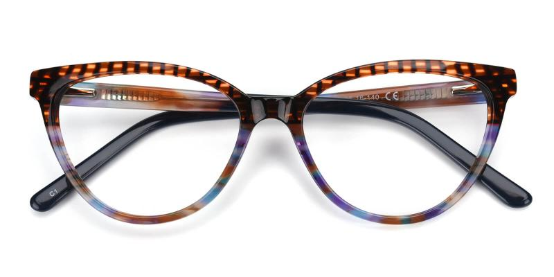Daphnely-Brown-Eyeglasses / Fashion / SpringHinges / UniversalBridgeFit