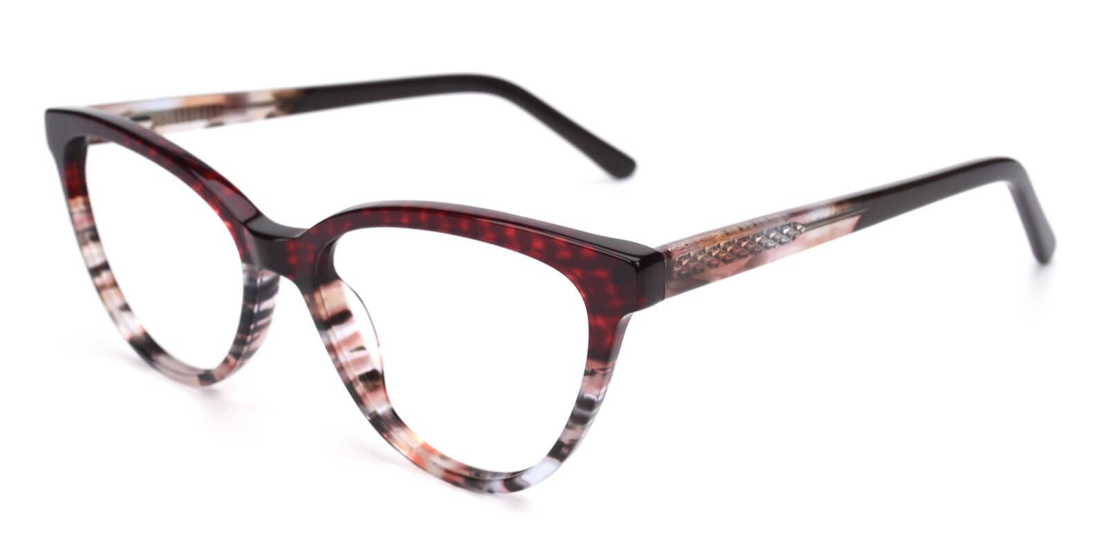 Daphnely-Red-Oval / Cat-Acetate-Eyeglasses-detail