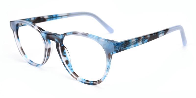Debbine-Blue-Eyeglasses / Fashion / SpringHinges / UniversalBridgeFit