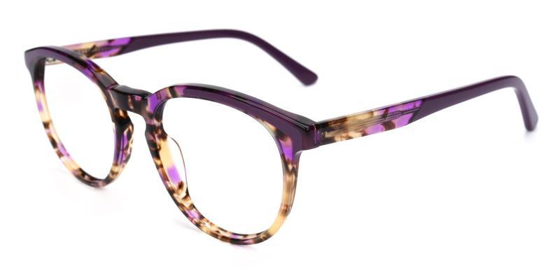 Deborah-Purple-Eyeglasses / Fashion / SpringHinges / UniversalBridgeFit