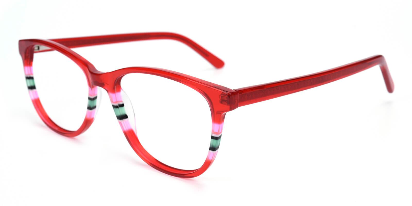 Faithely-Red-Square / Cat-Acetate-Eyeglasses-detail