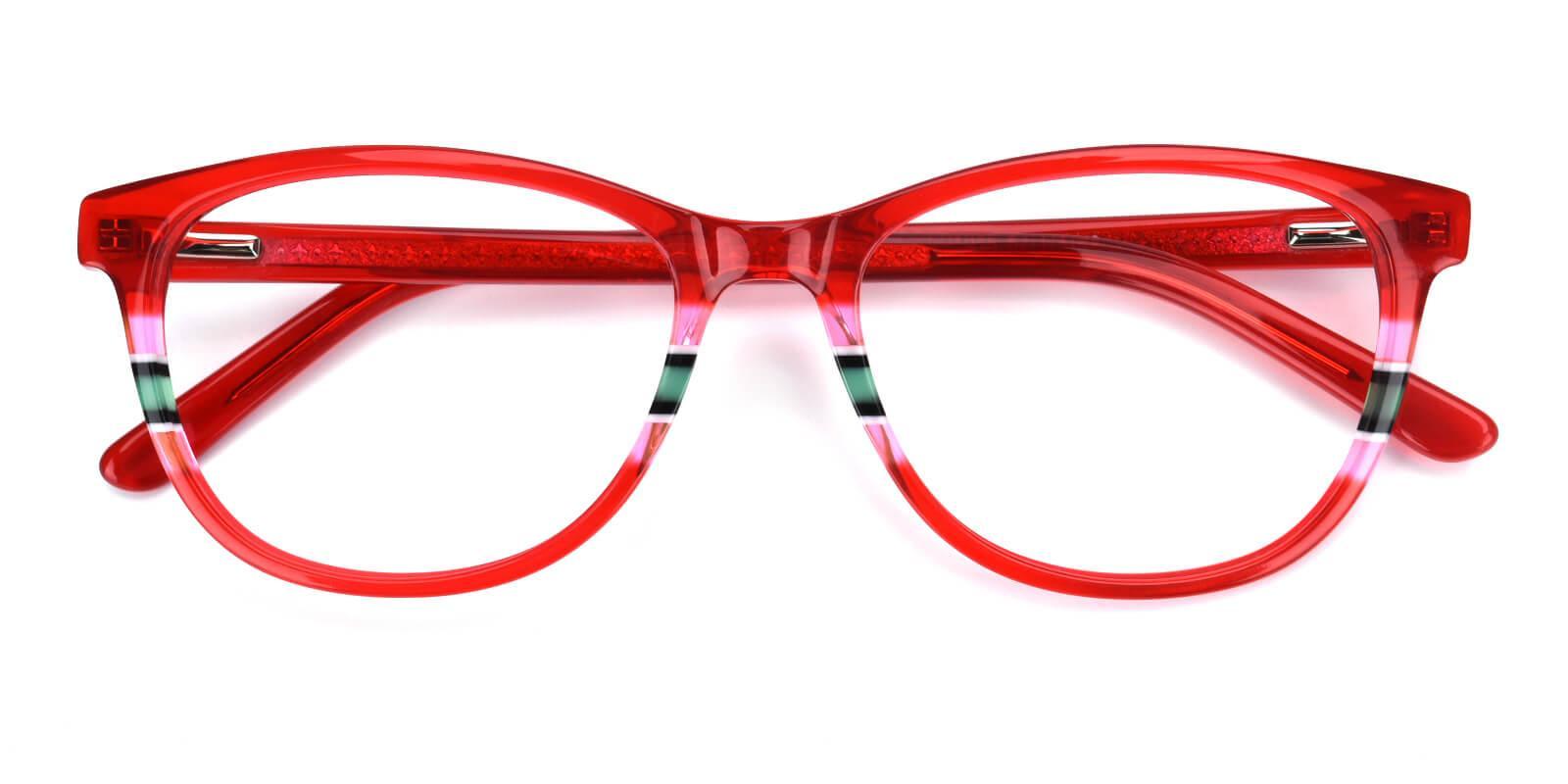 Faithely-Red-Square-Acetate-Eyeglasses-detail