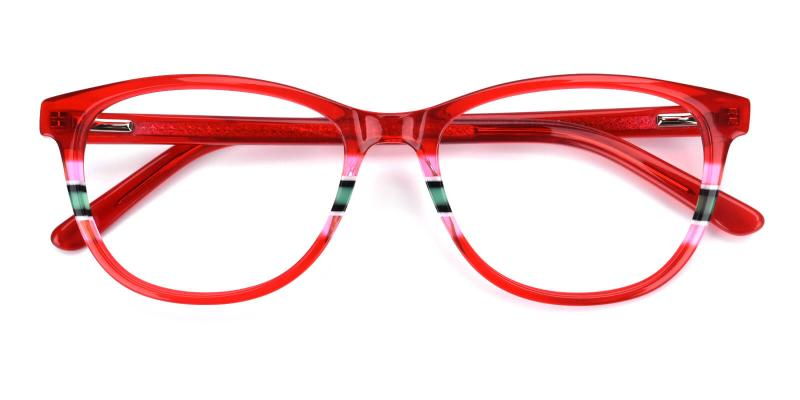 Faithely-Red-Eyeglasses