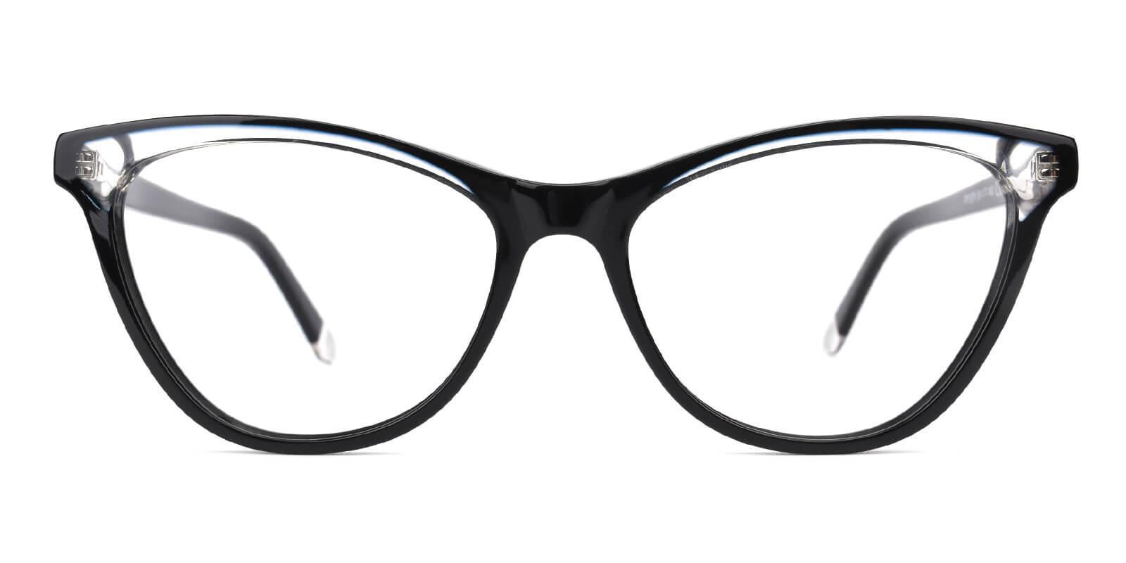 Florencer-Black-Oval / Cat-Acetate-Eyeglasses-detail