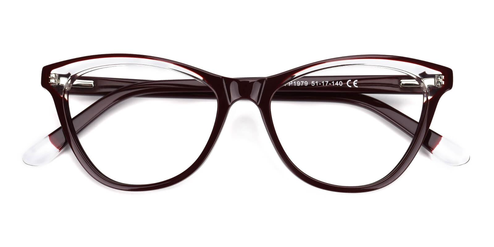 Florencer-Brown-Oval / Cat-Acetate-Eyeglasses-detail