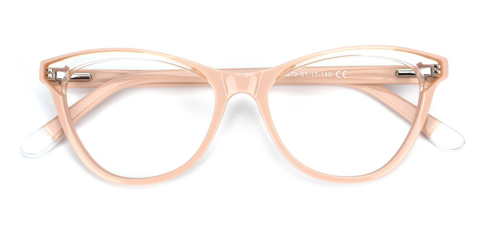 Florencer-Pink-Oval / Cat-Acetate-Eyeglasses-detail