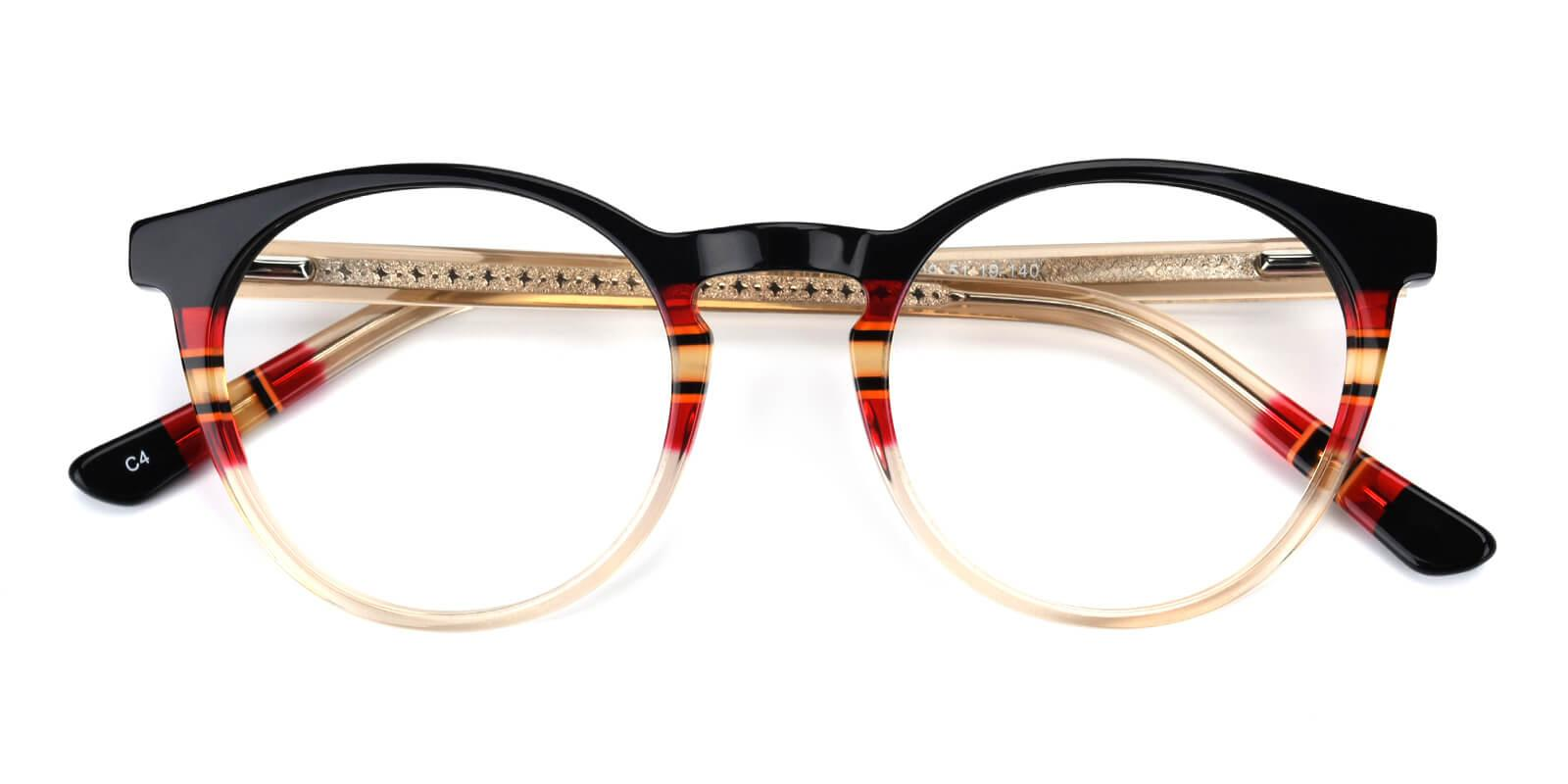 Gabrielle-Black-Round-Acetate-Eyeglasses-detail