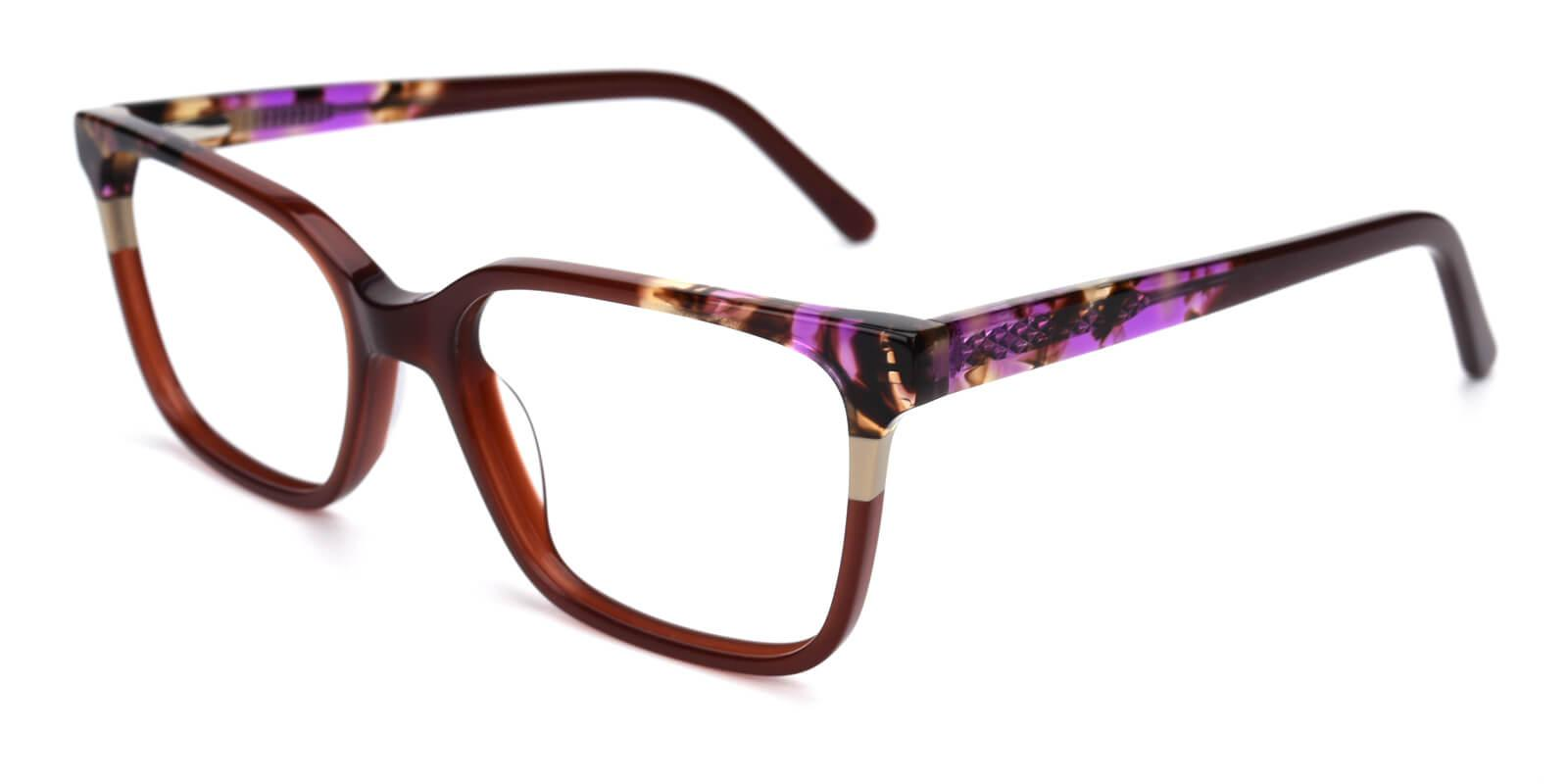 Geraldine-Brown-Square / Cat-Acetate-Eyeglasses-additional1