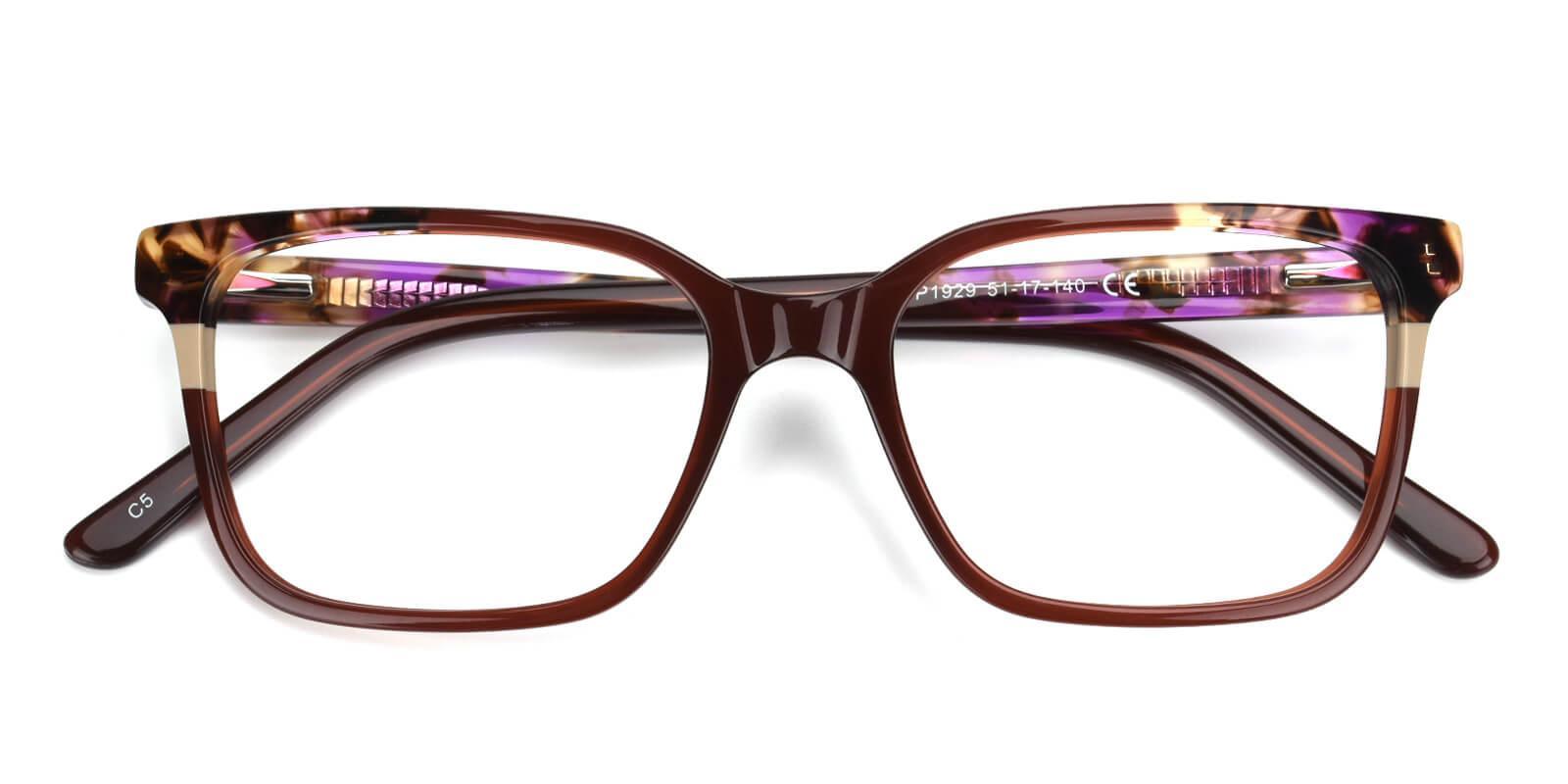 Geraldine-Brown-Square / Cat-Acetate-Eyeglasses-detail