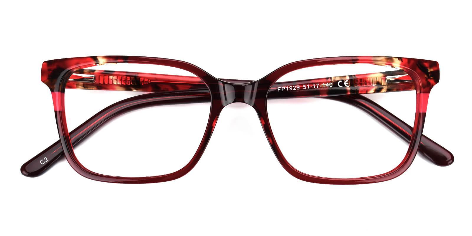 Geraldine-Red-Square / Cat-Acetate-Eyeglasses-detail