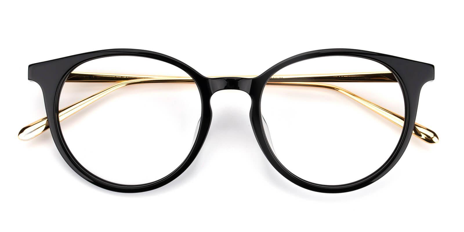 Blrhytem-Black-Round-Titanium-Eyeglasses-detail