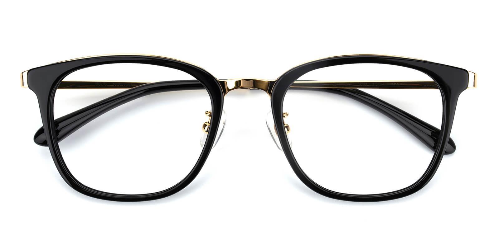 Keronito-Black-Square-Metal-Eyeglasses-detail