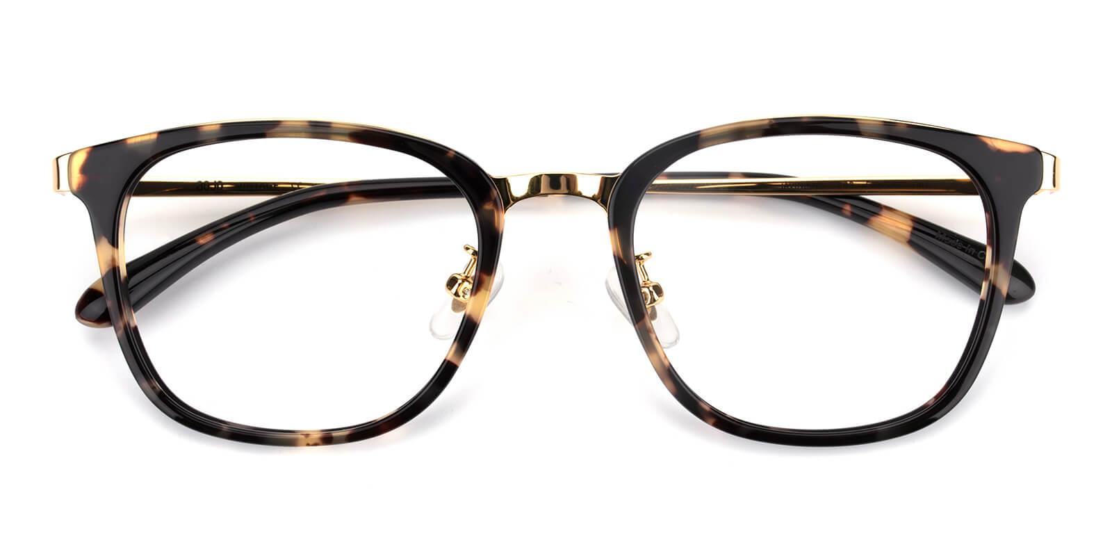 Keronito-Leopard-Square-Metal-Eyeglasses-detail