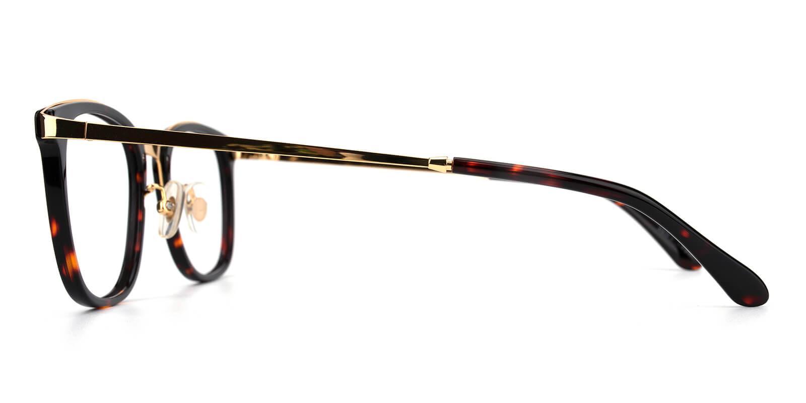 Keronito-Tortoise-Square-Metal-Eyeglasses-detail