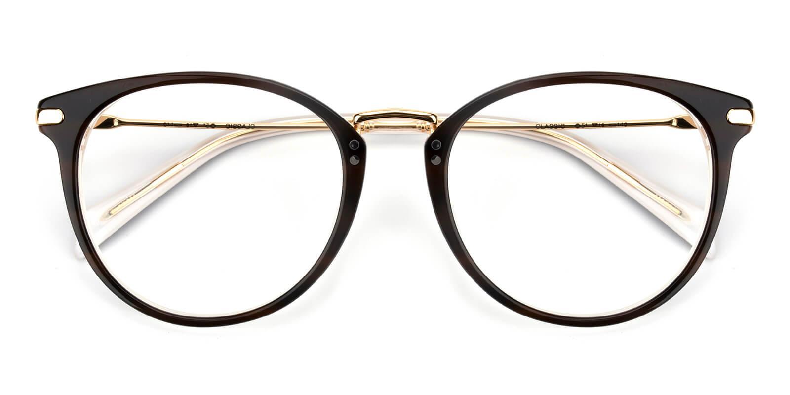 Valkder-Brown-Round-Metal-Eyeglasses-detail