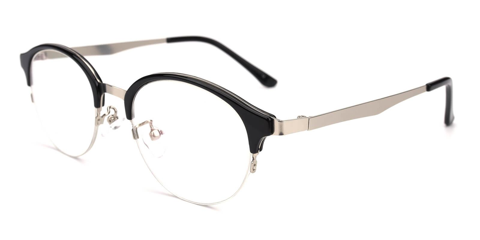 Akaaro-Black-Oval-Metal-Eyeglasses-additional1