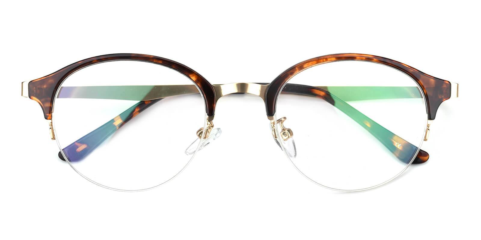 Akaaro-Tortoise-Oval-Metal-Eyeglasses-detail
