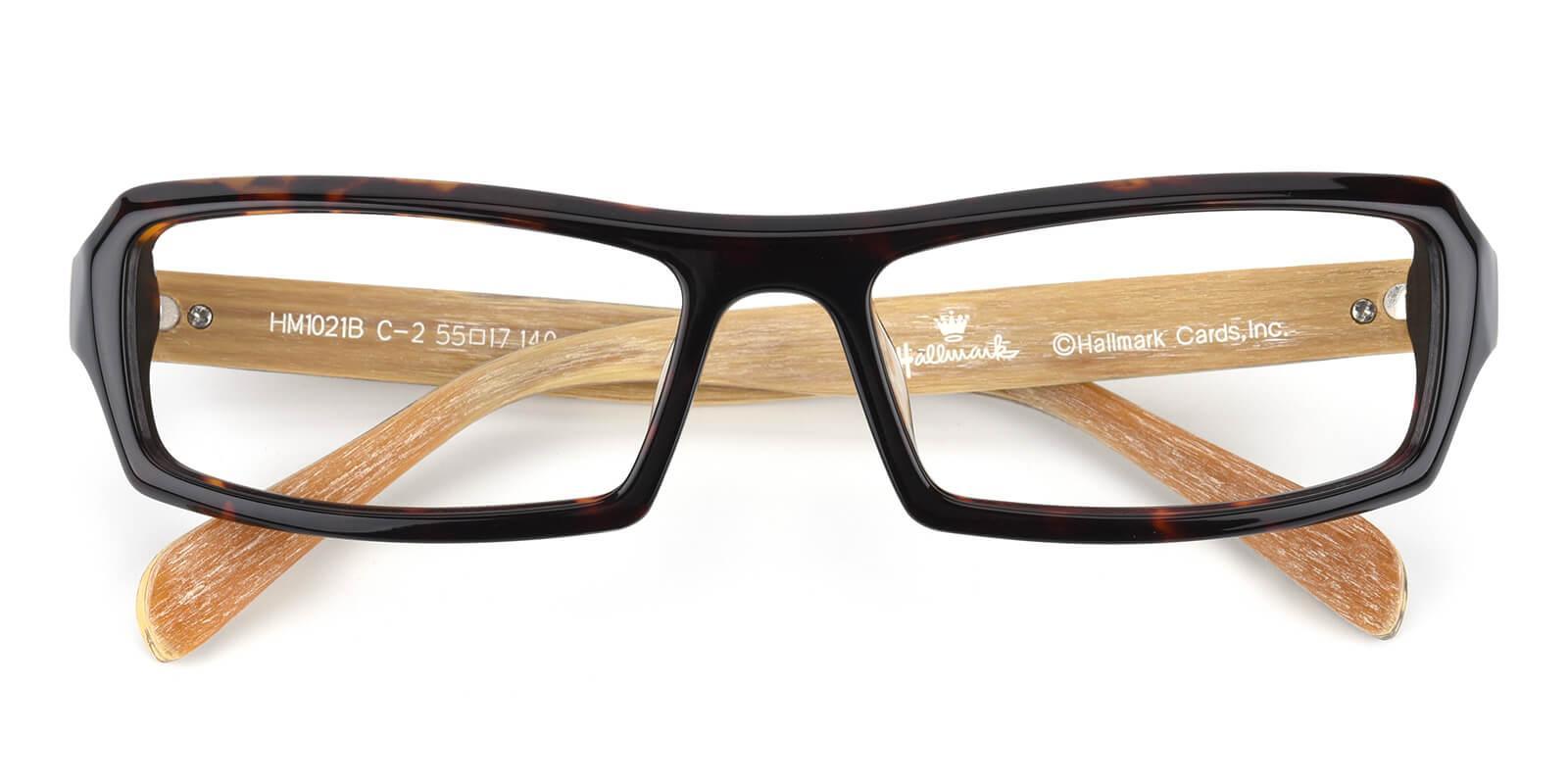 Deaphen-Tortoise-Rectangle-Acetate-Eyeglasses-detail
