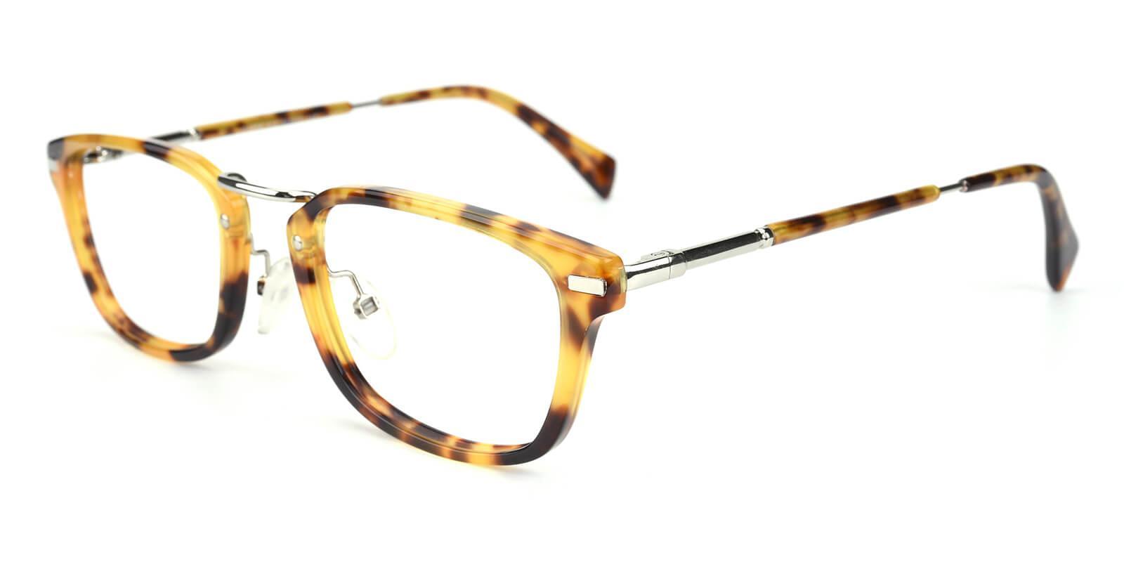 Madatte-Tortoise-Rectangle-Acetate / Metal-Eyeglasses-additional1