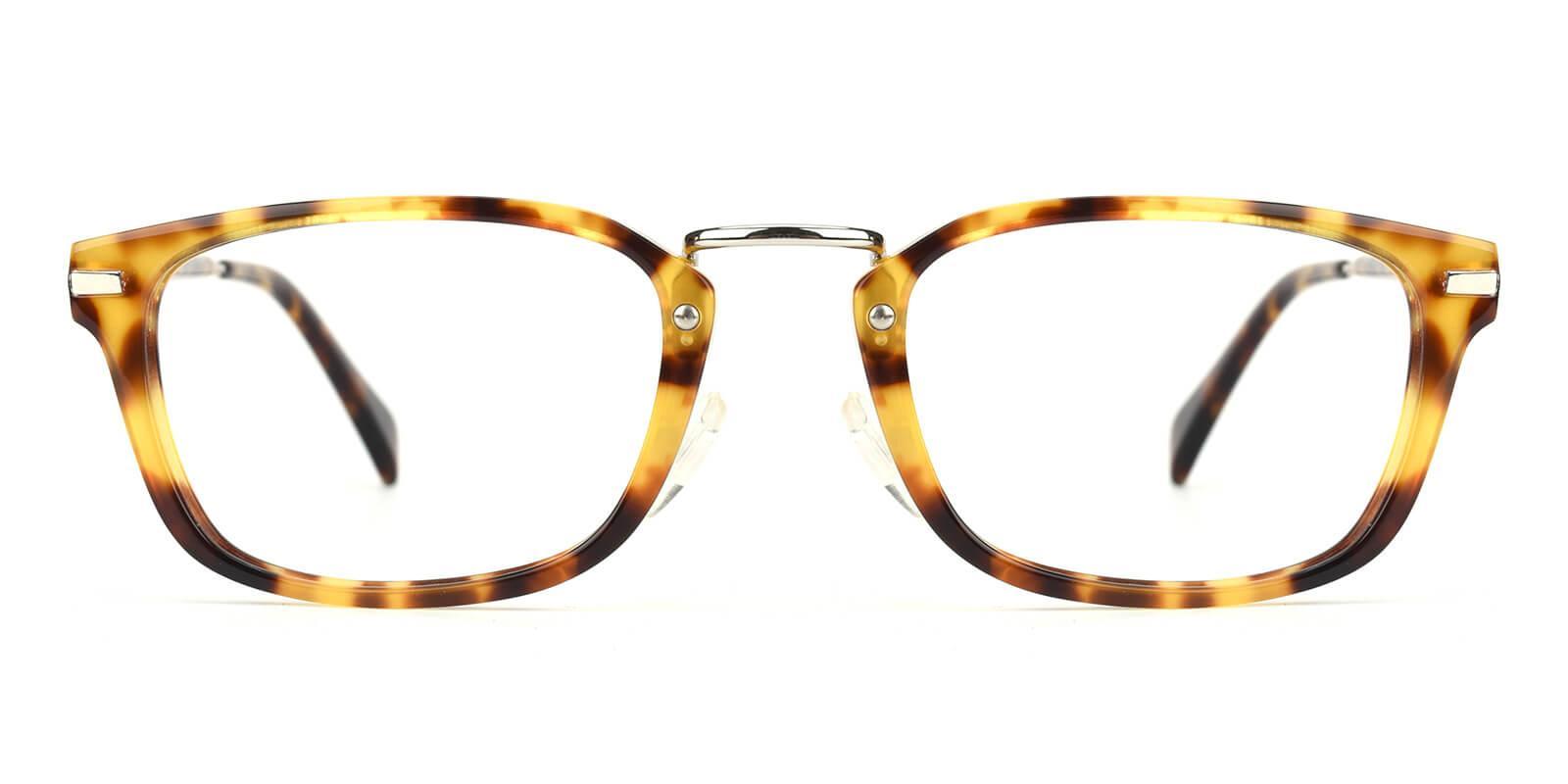 Madatte-Tortoise-Rectangle-Acetate / Metal-Eyeglasses-additional2