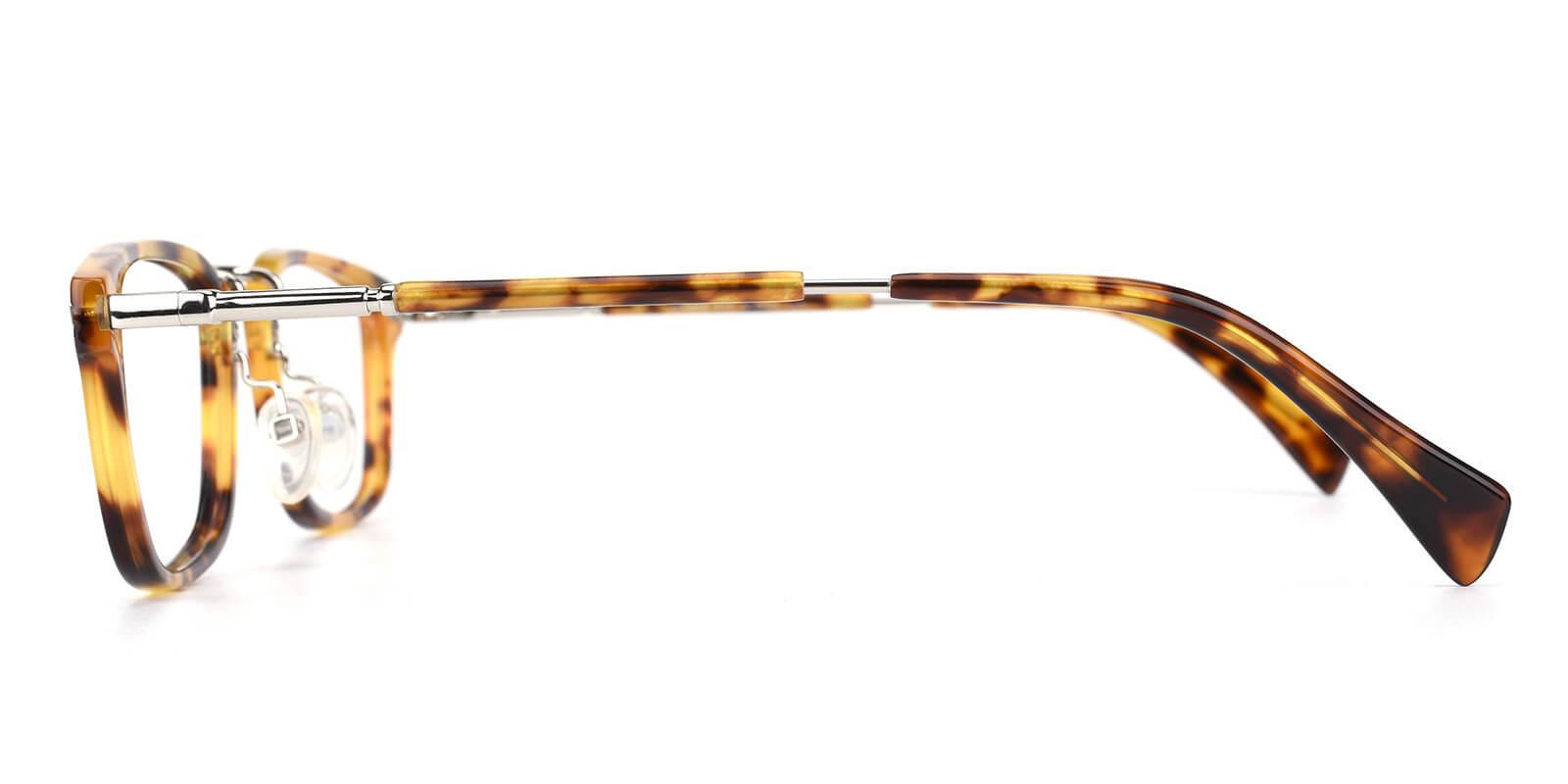 Madatte-Tortoise-Rectangle-Acetate / Metal-Eyeglasses-additional3