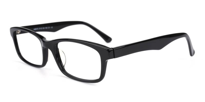 Katric-Black-Eyeglasses / Fashion / SpringHinges / UniversalBridgeFit
