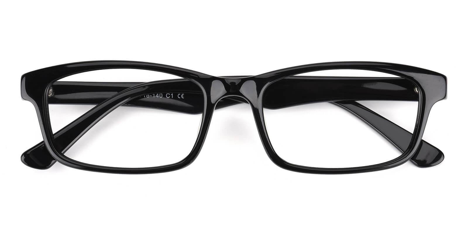 Katric-Black-Rectangle-Acetate-Eyeglasses-detail