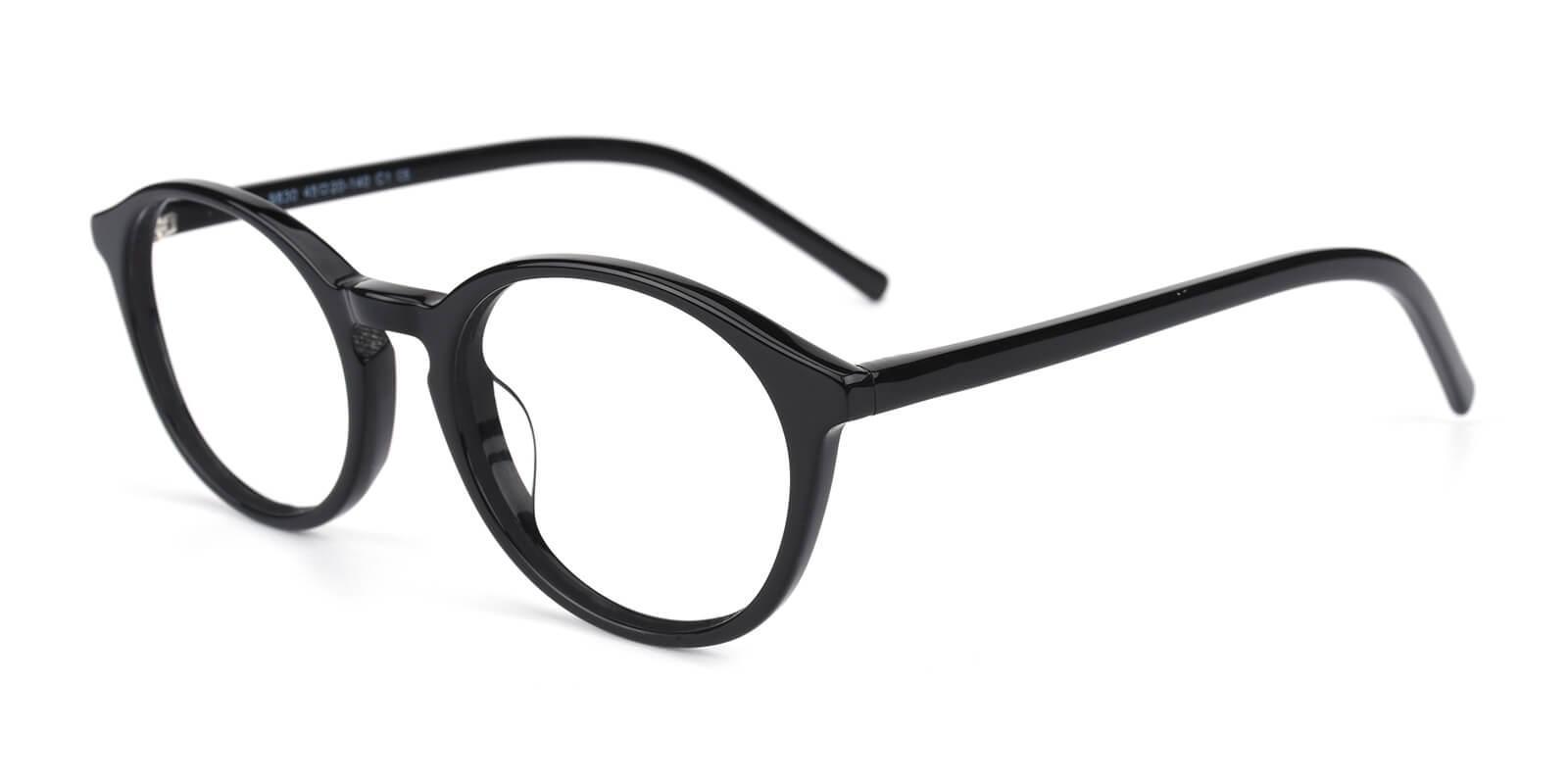 Herbel-Black-Round-Acetate-Eyeglasses-detail