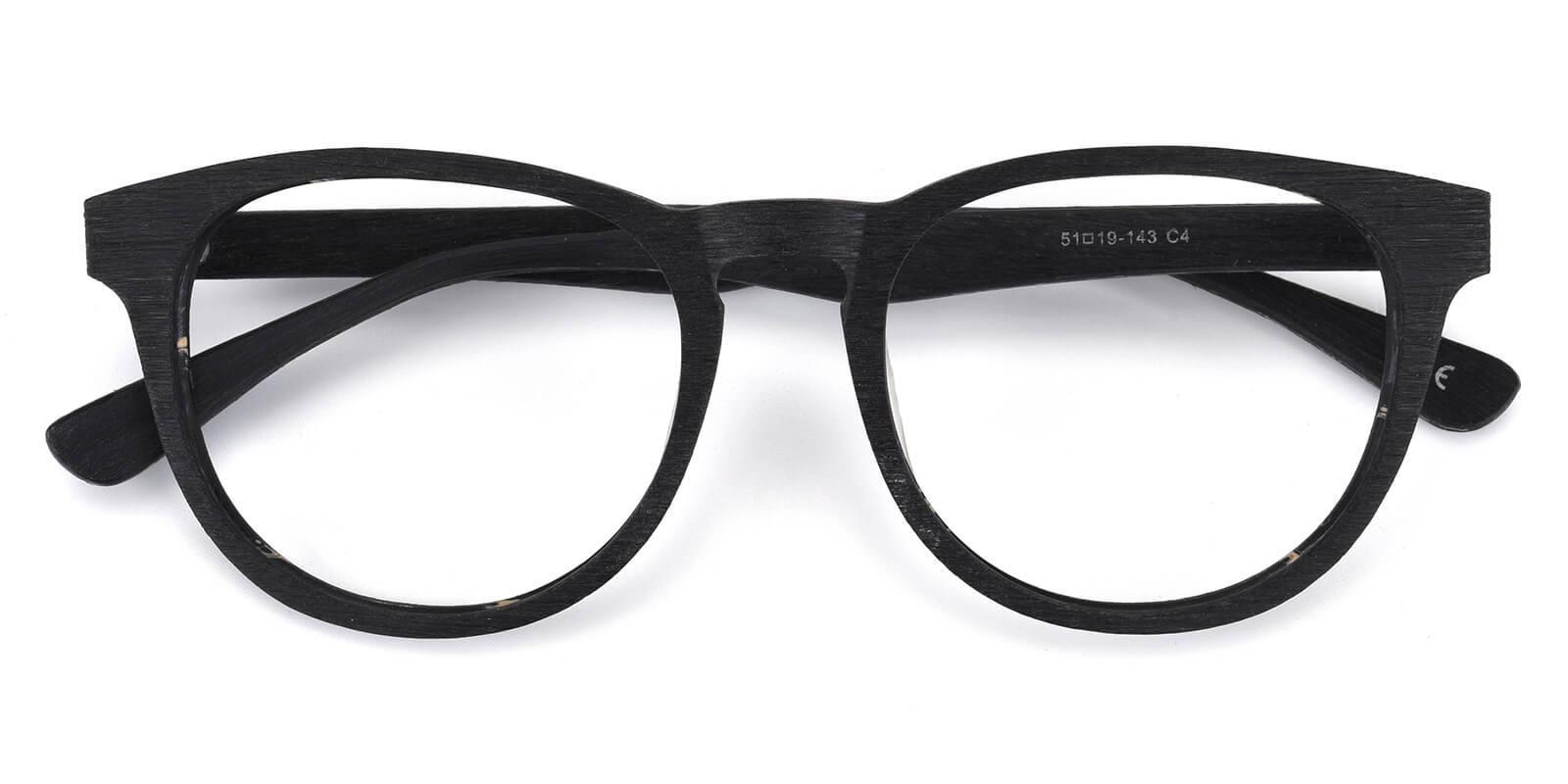 Rechela-Black-Round-Acetate-Eyeglasses-detail
