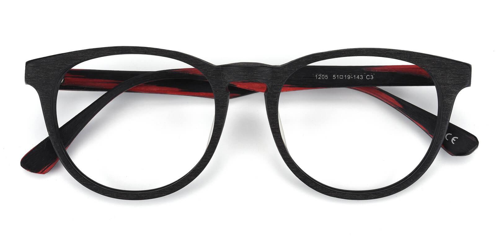 Rechela-Red-Round-Acetate-Eyeglasses-detail