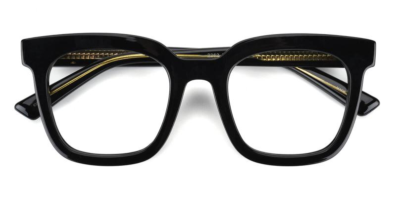 Vienna-Black-Eyeglasses / Fashion / SpringHinges / UniversalBridgeFit
