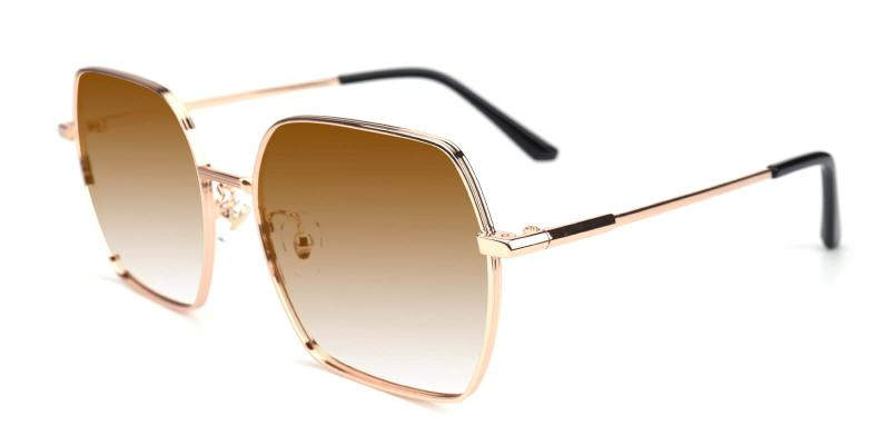 Quinny-Gold-Fashion / SpringHinges / Sunglasses / UniversalBridgeFit