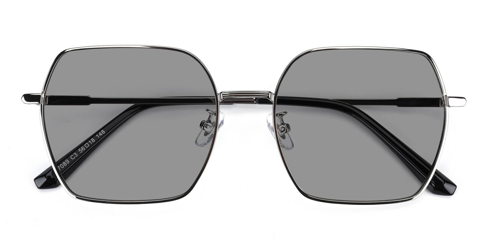Quinny-Silver-Square-Metal-Sunglasses-detail