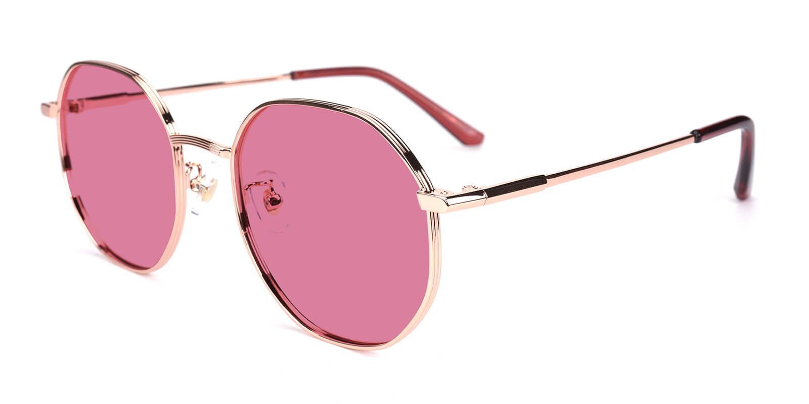 Sergi-Pink-Geometric-Metal-Sunglasses-additional1