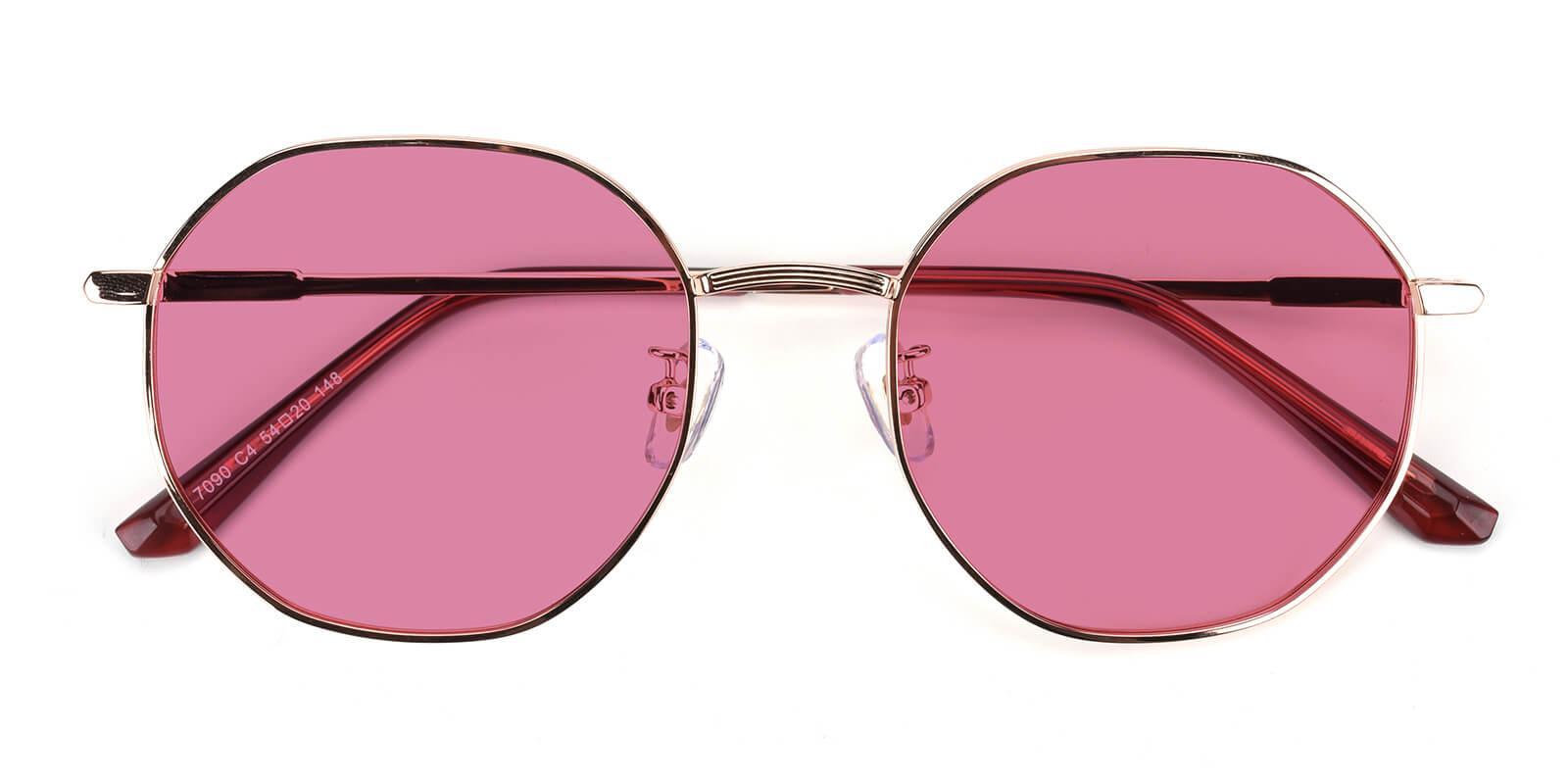 Sergi-Pink-Geometric-Metal-Sunglasses-detail