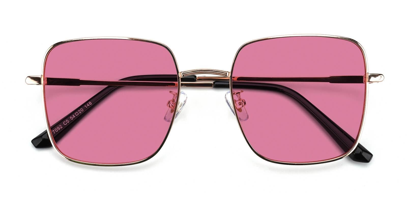 Noun-Gold-Square-Metal-Sunglasses-detail