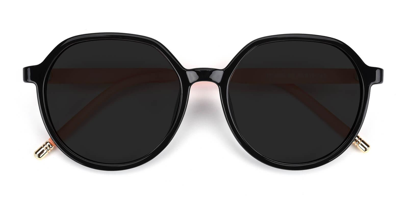 Songi-Black-Round-TR-Sunglasses-detail