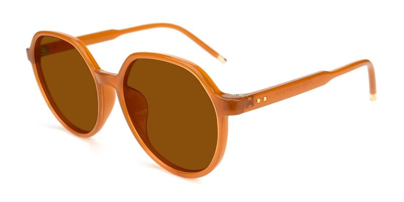 Songi-Brown-Fashion / SpringHinges / Sunglasses / UniversalBridgeFit