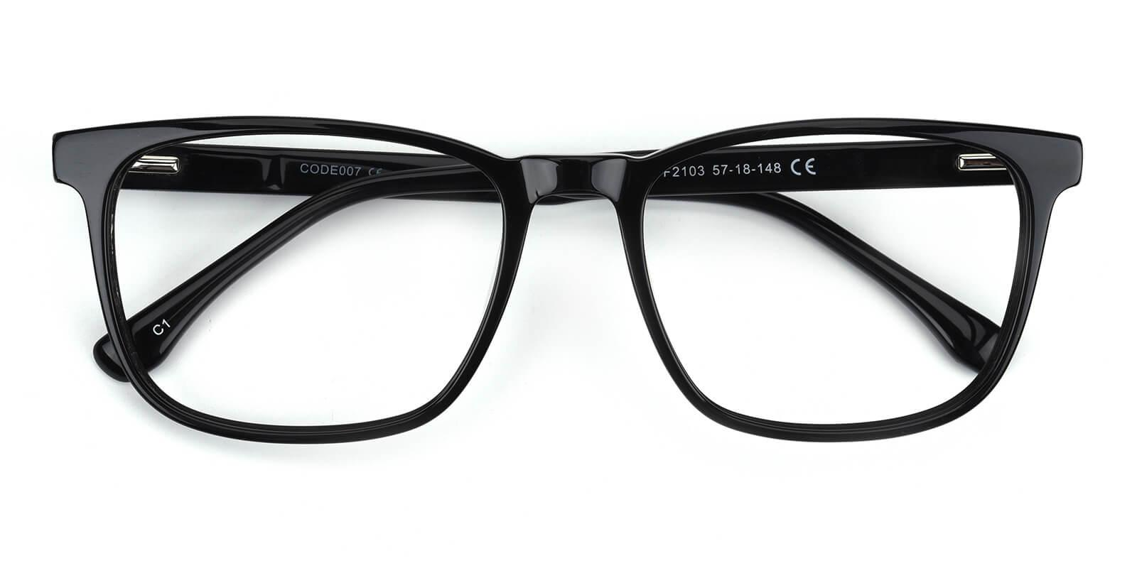 Tages-Black-Square-Acetate-Eyeglasses-detail