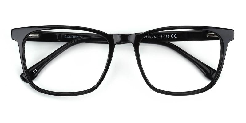 Tages-Black-Eyeglasses