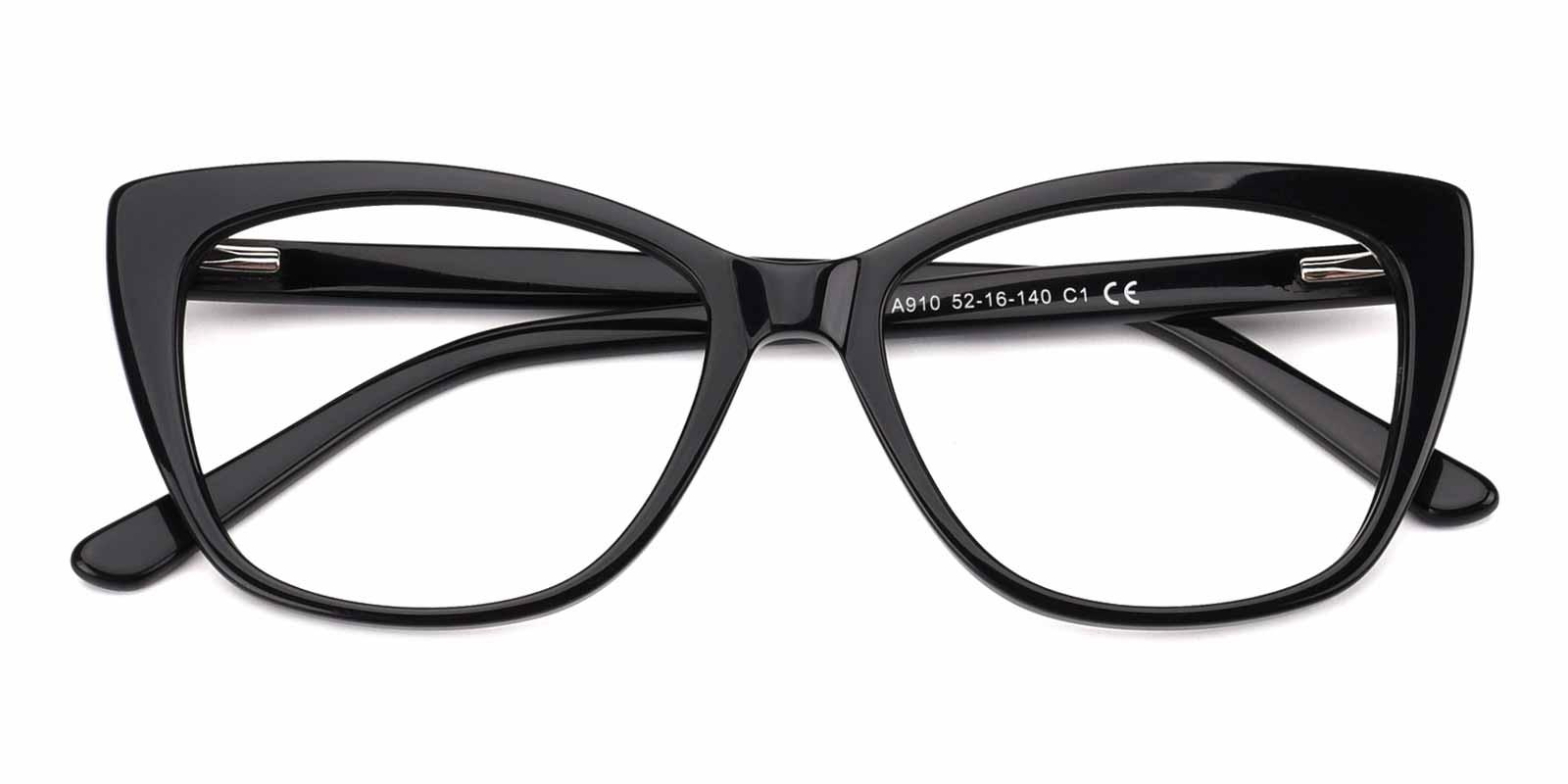 Kiko-Black-Cat-Acetate-Eyeglasses-detail