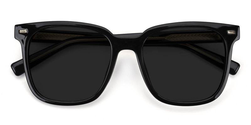 Leay-Black-Fashion / SpringHinges / Sunglasses / UniversalBridgeFit