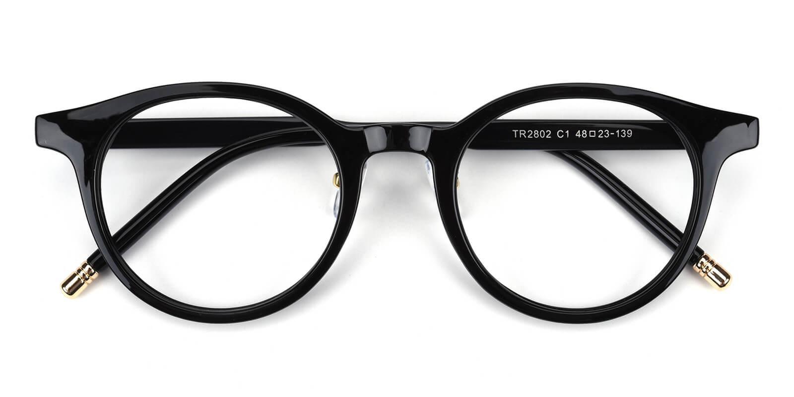 Kron-Black-Round-TR-Eyeglasses-detail