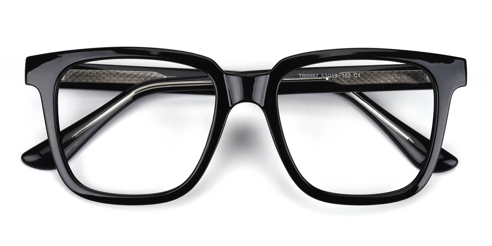 Jadeite-Black-Square-Acetate-Eyeglasses-detail